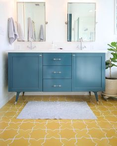 """1,497 Likes, 6 Comments - Fireclay Tile (@fireclaytile) on Instagram: """"This starry 💫 tile is featured on @lovelyindeed's master bath floor. See more on the blog—link in…"""""""
