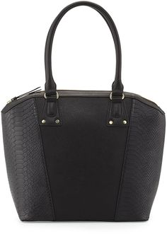 Neiman Marcus Snake-Embossed Paneled Tote Bag, Black Snake-Embossed Paneled Tote Bag, Black  Prices reflect sale discount. Cannot be combined with other offers. Excludes merchandise more deeply discounted and gift cards. Online sale ends September 30, 2014, at 8 a.m. CT.