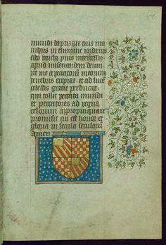 Book of Hours Coat of arms Walters Manuscript W.267 fol. 178r by Walters Art Museum Illuminated Manuscripts