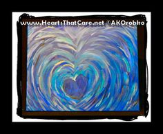 "Whirlpool - Ready to hang acrylic artwork 20"" x 16"" stretched canvas by Dr. Angela Kowitz Orobko"