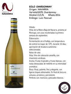 EOLO CHARDONNAY, ENVERO WINES, VINOS DE NAVARRA