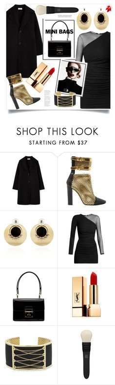 """""""So Cute: Mini Bags"""" by ames-ym ❤ liked on Polyvore featuring Balmain, Anton Heunis, Dolce&Gabbana, Yves Saint Laurent, Laundry by Shelli Segal, MAC Cosmetics and minibags"""
