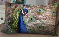 Peacock Throw Pillows - Decorative Peacock Feather Pillow Decor ...