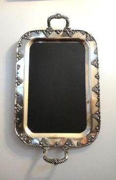 DIY inspiration from fleamarket tray to pretty chalkboard. Entryway?