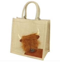 Made exclusively by Yellowboots, this Eco-friendly bag has been decorated with a 'Peekaboo Highland Cow design. Corduroy Cow motif with button detail. Laminated inside to ensure it is weatherproof and wipe clean. Jute Shopping Bags, Eco Friendly Bags, Jute Bags, Hessian, Rust Color, Cow, Reusable Tote Bags, Trips, Canvas