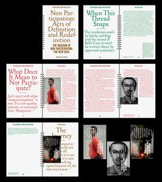 Great booklet design for The Museum of Non Participation: The New Deal by Mirza and Butler at The Walker Art Center.