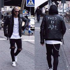 Jacket style pants street style