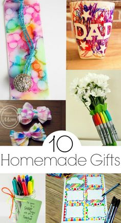 10 Homemade Gifts -- I love these, and most of them are so simple!