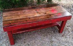 DIY Pallet Coffee Table with Dandelion Stencil   Pallet Furniture DIY