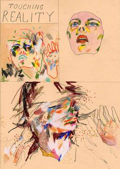 16.Use crayon or colored pencil to draw an abstract portrait. Loose lines. #Sketchbook30 ARTIST: Adian Koch