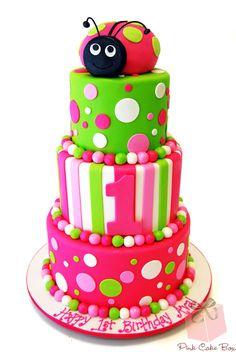 1st Birthday Ladybug Cake » Celebration Cakes