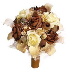 Rózsás-terméses szárazvirág csokor (barna-krém) Burlap Wreath, Wreaths, Home Decor, Decoration Home, Door Wreaths, Room Decor, Burlap Garland, Deco Mesh Wreaths, Home Interior Design