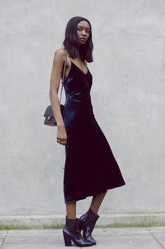 92aa11709b Dress  zara velvet christmas midi slip bag black bag boots pointed boots  high heels boots