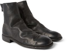 $1,330, Black Leather Chelsea Boots: Guidi Full Grain Leather Chelsea Boots. Sold by MR PORTER. Click for more info: https://lookastic.com/men/shop_items/197700/redirect