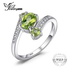Cheap fine jewelry, Buy Quality 925 sterling gemstone rings directly from China gemstone jewelry Suppliers: JewelryPalace 3 Stones Natural Peridot Ring Gemstone Solid 925 Sterling Silver Women Hot Fabulous Vintage Charm Fine Jewelry Engagement Sets, Vintage Engagement Rings, Green Peridot, Gemstone Jewelry, Diamond Jewelry, Gold Jewelry, Peridot Jewelry, Jewelry Rings, Sterling Silver Rings