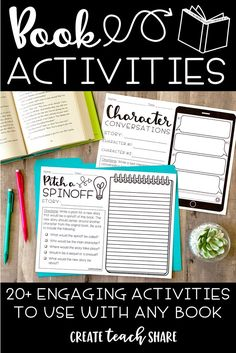 Fun and visual activities that can be used long-term and with multiple units depending on what works best for students Reading Homework, 5th Grade Reading, Reading Response, Enrichment Activities, Reading Activities, Teaching Reading, Reading Groups, Guided Reading, Teaching Ideas