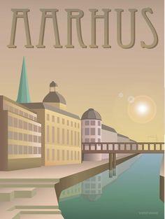 Vissevasse plakat Aarhus - poster - retro - Aarhus