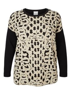 Wrap up in the baroque inspired plus size knit from JUNAROSE