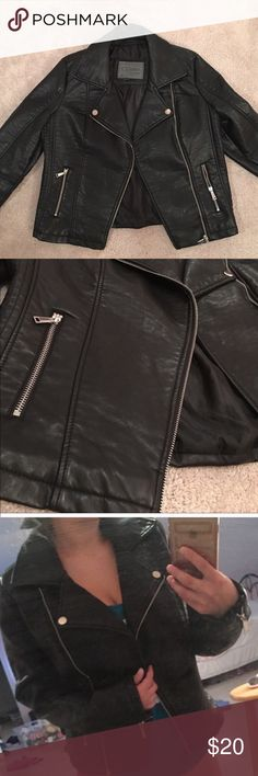 SALE !!!! Black faux leather jacket Brand new without tags! Jackets & Coats Blazers