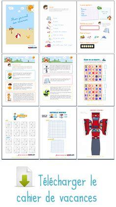 Cahier de vacances :o)    jeux pour la route, des idées d'activités et des pages de journal à remplir de souvenirs de vacances