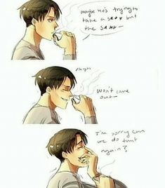 I can so see this happening xD If someone had to physically act out these lines I don't think think they would keep a straight face. Levi SNK