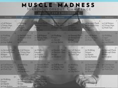 Muscle Madness March Workout Challenge