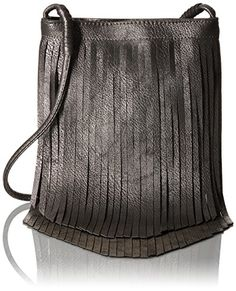 cde6371d904f Twig  amp  Arrow Metallic Fringe Crossbody Messenger Bag