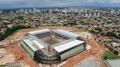 Estadio arena pantanal mundial de Brasil 2014 Chile contra Australia