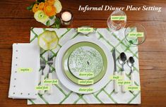 How to Set and Style a Place Setting: informal dinner