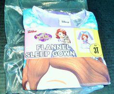 Disney Sophia the First Girls' Flannel Sleep Gown