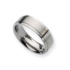 Men's Titanium Promise Ring with a Brushed Finish