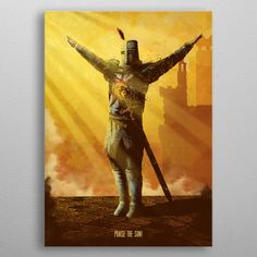 Solaire by Eden Design Dark Souls, Wall Art Prints, Poster Prints, Canvas Prints, Eden Design, Gaming Wall Art, Gaming Posters, Man Cave Wall Art, New Artists