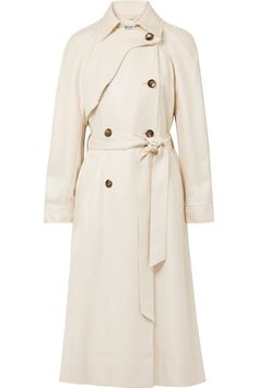 Spring will be here eventually! Snow notwithstanding...Elizabeth and James   Dakotah frayed woven trench coat   NET-A-PORTER.COM