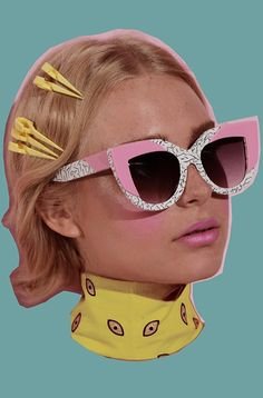 sunglasses art NYLON Look Eye-conic In Poppy Lissiman x Lazy Oaf Sunglasses Collab Womens Fashion Online, Latest Fashion For Women, Cat Eye Colors, Trend Council, Cute Sunglasses, Sunnies, Trendy Swimwear, Look Cool, Portrait