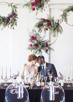 18 Floral Wedding Wreaths That Are Way Prettier Than Flower Crowns : These floral wedding wreaths are a gorgeous addition to your wedding decor! Floral Wedding Decorations, Wedding Wreaths, Wedding Themes, Wedding Centerpieces, Wedding Flowers, Wedding Backdrops, Centerpiece Ideas, Flower Decorations, Wedding Designs