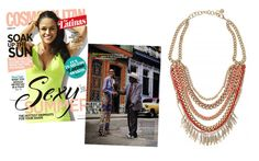 Swooning over the The Carmen Necklace by Stella & Dot featured in Cosmopolitan for Latinas