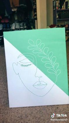Easy Canvas Art, Mini Canvas Art, Diy Canvas, Hand Embroidery Art, Cool Art Drawings, Diy Painting, Diy Art, Paintings, Crafty