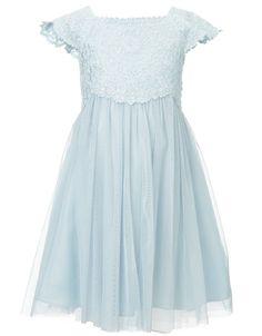 Baby Estella Glitter Dress | Blue | Monsoon
