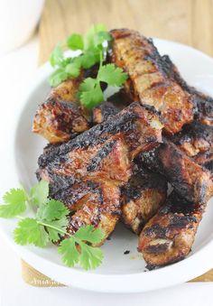 Żeberka z grilla, 1 Bbq Grill, Grilling, Tandoori Chicken, Ethnic Recipes, Food, Bar Grill, Barbecue, Crickets, Meals