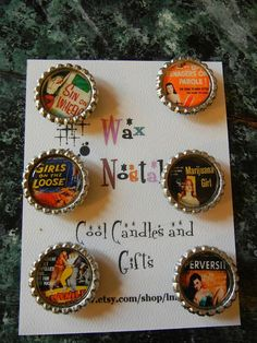 The Bad Girls of Pulp Fiction Magnets by lmfries on Etsy, $15.00