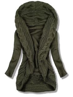 Shop Tops - Roselinlin Long Sleeve 1 Olive Green Women Tops Casual Knitted Casual Tops online. Discover unique designers fashion at roselinlin.com. Casual Sweaters, Cardigan Sweaters For Women, Long Cardigan, Cardigans For Women, Casual Tops For Women, Sweater Shop, Types Of Sleeves, Olive Green, Long Sleeve