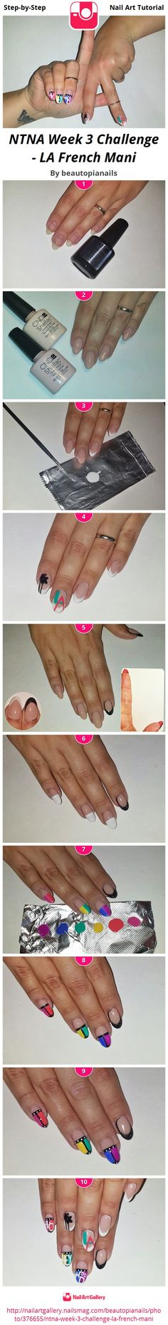 "I came at this challenge from a very literal perspective. Every nail is a French Mani, but several strategic feature nails have a bit more. The ""LA"" hand sign that is so prevalent in visual social media platforms right now wormed it's way into my brain, and much like the ""Martini Mani"" trend from a few years ago,  I thought it would be so cool to have a modern french with feature nails that were visible when making this hand sign. I thought it would look really attractive in photos. As an ..."