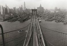 Brooklyn Tower of the Brooklyn Bridge, on April 24, 1933