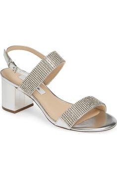 2e72e9eede38 Nina Naomi Crystal Embellished Sandal (Women)