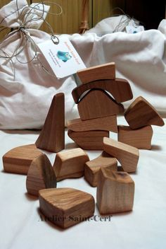 Wooden recycled blocks by AtelierSaintCerf on Etsy, $12.00