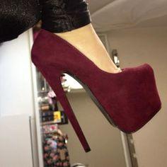 Slip On Women's Pumps High Heel Stiletto Platform Nightclub Round Toe Sexy Prom Platform High Heels, Sexy High Heels, High Heel Boots, High Heel Pumps, Pumps Heels, Stiletto Heels, Shoe Boots, Stilettos, Women's Shoes