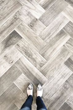 Love Wood Tile In A Herringbone Pattern Such A Great Look