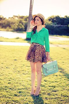 Blog da Lê-Moda Acessível: Print e verde
