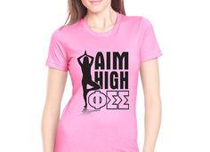 """Sorority Rush """"aim high"""" shirt design! #sorority #rush #recruitment"""