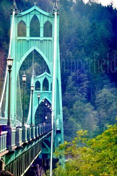 St. Johns Bridge, PDX, Fine Art Photography, Green Bridge,8x10,16x24, 20x30, Portland Bridge, Woodland Photo, Vintage, Urban Decor, Wall Art by PhotosByChipperfield on Etsy https://www.etsy.com/listing/115084911/st-johns-bridge-pdx-fine-art-photography